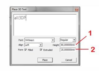 آموزش طراحی2 نوشته سه بعدی پر ینتر سه بعدی نرم افزار اسکچاپ