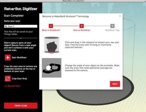 makerbot digitizer اسکنر