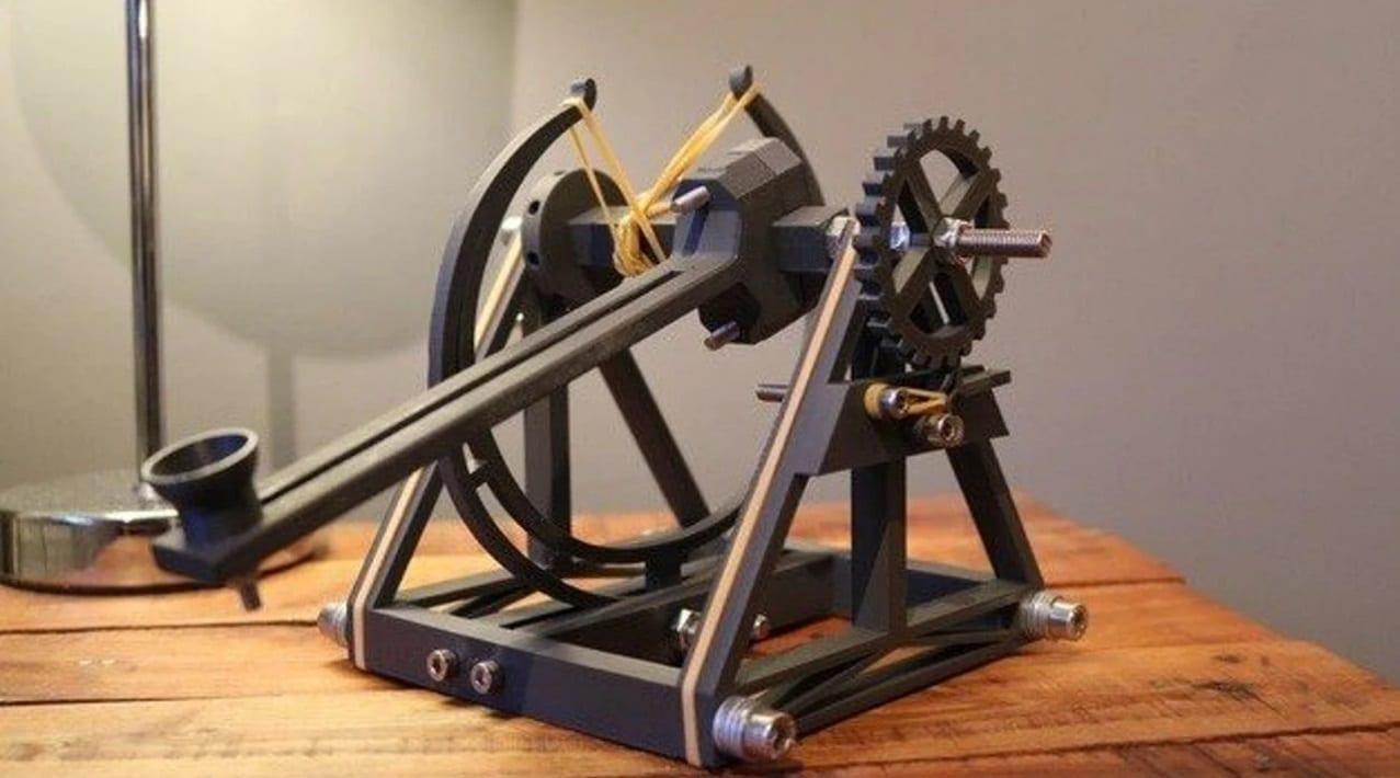 پروژه آخر هفته: آموزش پرینت سه بعدی منجنیق با الهام از طرح لئوناردو داوینچی