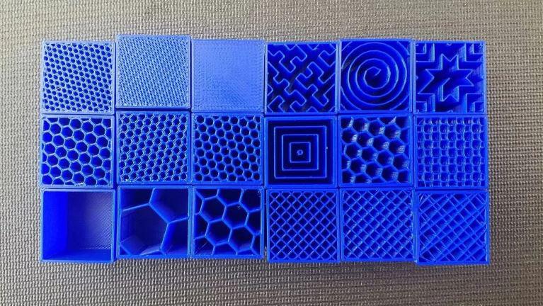 همه آنچه باید درباره الگوهای پرشوندگی یا infill پرینت سه بعدی بدانید