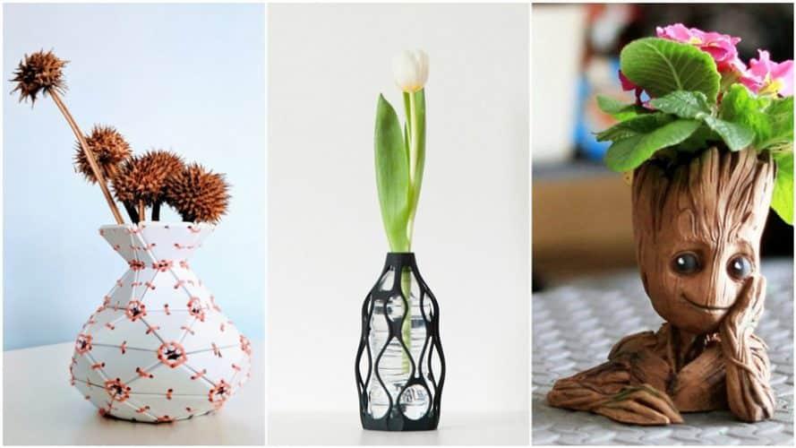 ده مدل از بهترین گلدان ها برای پرینت سه بعدی