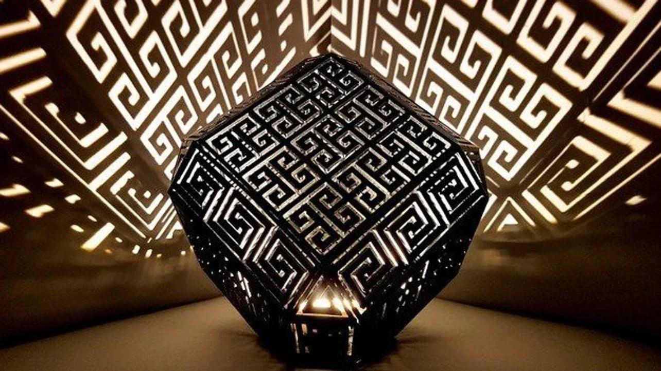 پرینت سه بعدی چراغ دکوری یونانی