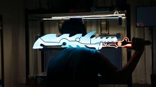 پرینت سه بعدی شمشیر بازی محبوب کامپیوتری
