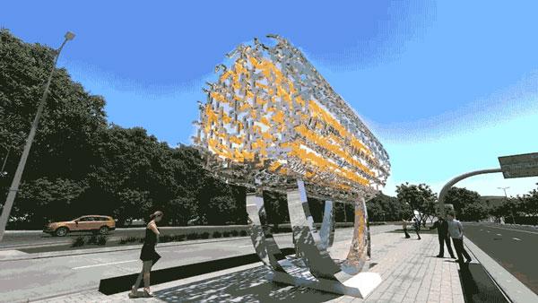 مجسمه آزادی کوروش لس آنجلس