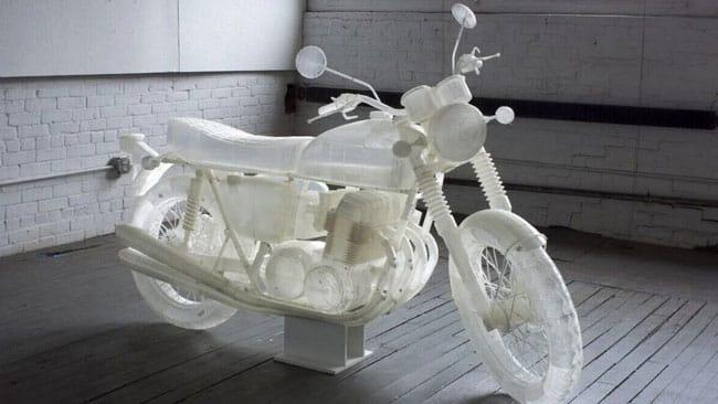 پرینت سه بعدی موتورسیکلت هوندا 1972 در ابعاد واقعی