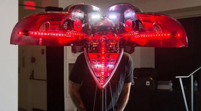 پرینت سه بعدی کلاهخود شگفت انگیزی که هنر و تکنولوژی را با یکدیگر ادغام کرد