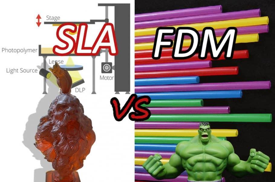 مقایسه دو فناوری پرینتر سه بعدی: FDM درمقابل SLA
