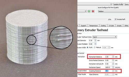 رفع خطای قطره ای شدن سطح پرینت سه بعدی با simplify3D
