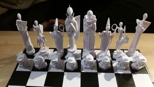 چاپ سه بعدی مجموعه های شطرنج