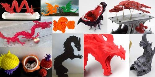 دانلود 10 مدل اژدها برای پرینتر سه بعدی