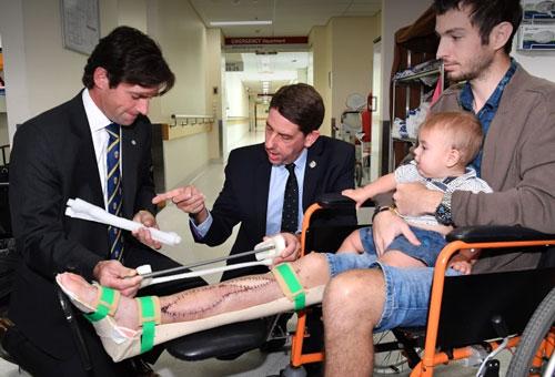 پرینت سه بعدی استخوان ساق پا
