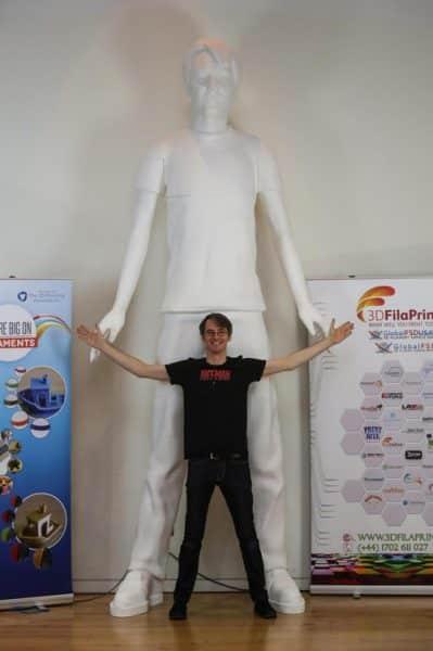 شکستن رکورد گینس با پرینت سه بعدی مجسمه 3.6 متری