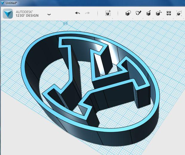 آموزش تبدیل عکس دو بعدی لوگو به مدل سه بعدی