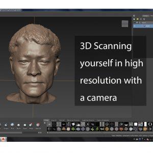 آموزش اسکن سه بعدی تندیس با موبایل و پرینت سه بعدی آن