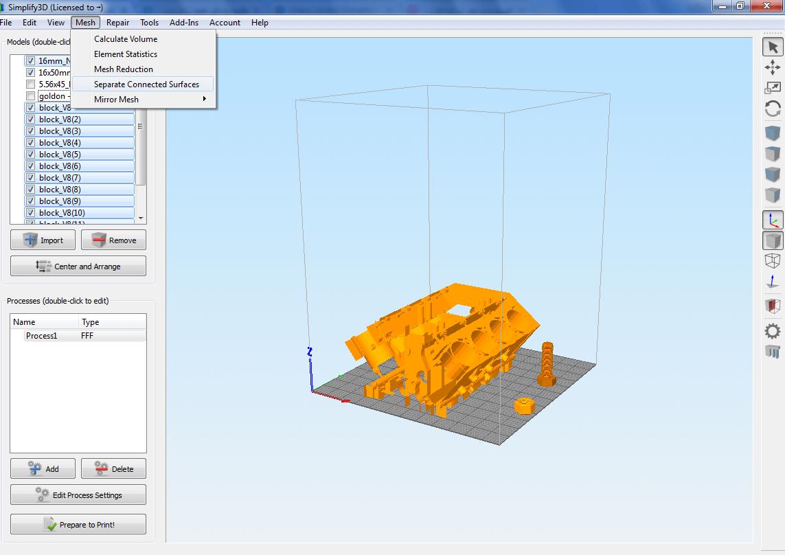 آموزش جداسازی و مرتب سازی مدلهای بزرگ در نرم افزار اسلایسر