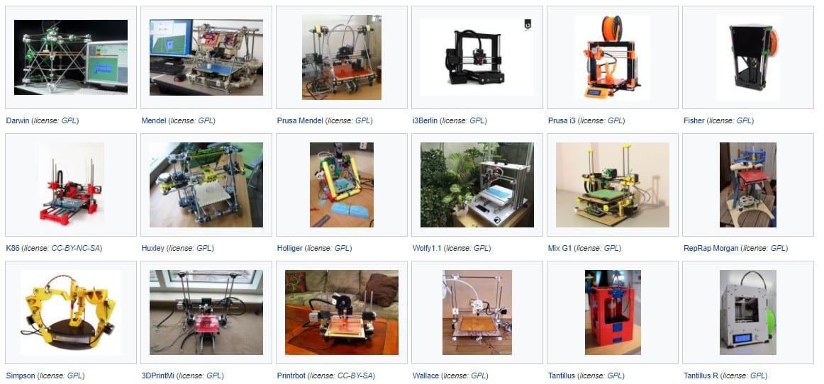 rep rap 3d printer model 1